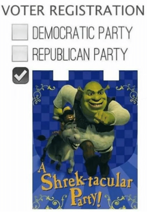 voter-registration-democratic-party-republican-party-shrek-tacular-3490959